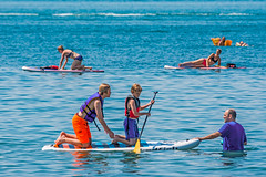 Paddleboard Fun (fotofrysk) Tags: paddleboard kids adults paddles women yoga waterfun lake lakeerie water sunshine beach beachview canada ontario portdover sundaydrive southernontario afsnikkor200500mm56eed nikond7100 201707304399