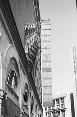 Golden Gate Theater (larsupreme) Tags: kentmere100 blackwhite 35mm asahi pentax k1000 film