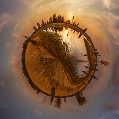 Kampina stereographic projection (ronnevinkx) Tags: boxtel heide kampina lente nature natuur nederland netherlands oisterwijk polarcoordinates stereographicprojection sunset