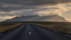 Amazing Journey (Andrew G Robertson) Tags: snaefellsnes peninsula iceland snæfellsnes ray crepuscular road mountain west sunset sunrise rays ethereal light