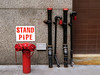 (TheMachineStops) Tags: nyc outdoor newyorkcity manhattan pipes 2017 pavement standpipe sprinkler metal vent stack sign