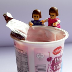 69/100 in 2017 - Joan and the yoghurt pot (amy's antics) Tags: wah wearehere yoghurt cherry fruity joan ada 100xthe2017edition 100x2017 image69100