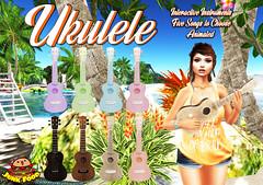 Junk Food - Ukulele Ad (Late Billig.) Tags: ukulele junkfood secondlife sanarae tropical