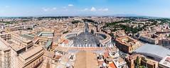 Piazza San Pietro-Pano (Sivagraphy) Tags: sivagraphy vaticancity stpetersbasilica cupola vatican basilica rome