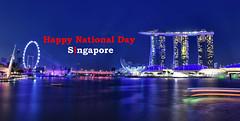 9th August. Singapore National Day! (Br@jeshKr) Tags: singapore marinabay marinabaysand flyer brajeshart nationalday celebration bluehour longexposure lighttrail