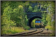 Echoes of the Midland (david.hayes77) Tags: 2015 dbs ews shed class66 dbschenker freight limestone aggregate derbyshire 6h22 peakforestjunctiontunnel midlandrailway midlandmainline mml buxton 66147 dowlow highpeak