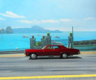 Dinky Toys Pontiac Parisienne No. 173 1969 : Diorama PS2 GT4 Computer Game Backdrop Costa di Amalfi - 3 Of 16