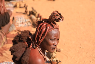 Married Himba Woman Kamanjab Damaraland Namibia South West Africa