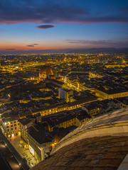 Let the magic of sun set light up your soul (Wizard CG) Tags: florence cathedral duomo di firenze dome basilica santa maria del fiore giottos campanile piazza bell tower belfry giotto gothic renaissance wide angle cityscape sunset skyline olympus epl7 worldtrekker ngc