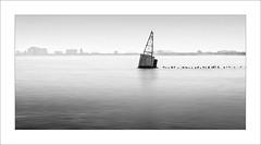 Boia / Buoy (ximo rosell) Tags: ximorosell bn blackandwhite blancoynegro bw water lagomichigan chicago llum luz light eeuu paisatgeurbà minimal