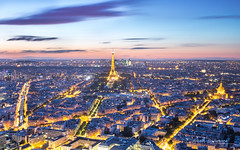 Ah, Paris... (Raph/D) Tags: paris tour montparnasse sunset night nuit coucher soleil france city urban ville capital town urbain eiffel tower monument landmark light lights lightroom sun set beautiful europe canon eos 7d mark ii canoneos7dmarkii l series lseries ef2470mmf28liiusm 2470mm catchy colors panorama hdr pano skyscraper view trails travel sky ciel clouds nuages blue hour magic dusk twinight tron