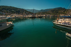 Sunshine harbour...... (Dafydd Penguin) Tags: harbour port harbor explore dock marina waterside water sea harbourside edge valley town city village quay pontoon boats yacht motor yachting sailboat sail nikon df balearics soller mallorca nikkor 20mm af f28d