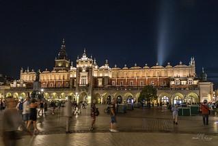 Evening motions in Market Square, Krakow