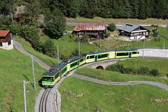 2017-08-25, TPC, La Cour (Fototak) Tags: train schmalspurbahn treno railway crémaillère stadler gtw valais switzerland tpc aomc zahnradbahn 591 542