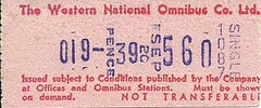Western National Omnibus Co. Ltd. Bus Ticket (Ray's Photo Collection) Tags: scan scanned document westernnational omnibus co ltd bus travel buses ticket