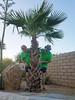 August 20, 2017 (063-365) (gaymay) Tags: california desert gay love palmsprings selfie 365days clone palmtree rock hat wall outside
