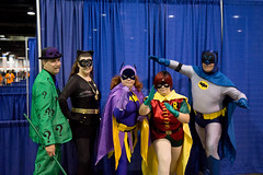 wizard world comic con. august 2017 (timp37) Tags: batman cosplayers cosplay chicago illinois wizard world comic con august 2017 rosemont catwoman riddler robin batgirl group