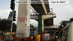Hyderabad Metro | Secunderabad Steel Bridge over Oliphanta RUB (world8115) Tags: metro metrorail hyderabad rail railway secunderabad secunderabadmetrostation secunderabadeast telangana bharat india subway oliphantabridge oliphanta oliphant oliphent oliphenta scr prefabricated pre fabricated fabrication steel bridge metrobridge metrobridges viaduct rub over overbridge railways indianrailways railwayoverbridge railwayunderbridge southcentralrailway ir infrastructure infra transport masstransit masstransport mrt mrts mass transit construction telengana bhagyanagar bhagyanagaram sep line 3 stageiii line3 mettugudabegumpet phasei phase project