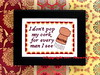 I Don't Pop My Cork for Every Man I See Cross Stitch Project (Ancora Crafts) Tags: shirley bassey big spender song lyric crossstitch needlepoint needlework fun funny popmycork sexy brave independent