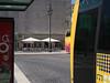 Lissabon_e-m10_1018201035 (Torben*) Tags: rawtherapee olympusomdem10 olympusm25mmf18 lissabon portugal urlaub vacation bus stuehle chairs bushaltestelle busstation laterne streetlight