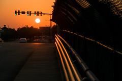 17-4999 (George Hamlin) Tags: virginia alexandria sunset road street duke bridge glint highway vehicles cars traffic lights sidewalk photo decor george hamlin photography