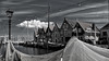 Monnickendam (1) (ed mather) Tags: monnickendam ijsselmeer gouwzee fishing harbour zwartwit blackwhite hdr waterland zaan