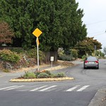 Traffic circles, diverters, and chicanes near Olympic View Elementary School. thumbnail