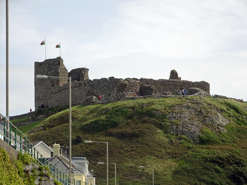 Criccieth Castle from the waterfront