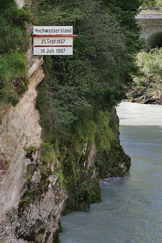 Rheinschlucht Ruinaulta - Flood Water Mark
