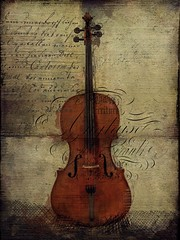 The Cello (jimlaskowicz) Tags: typography music whimsical light outlines instrument art aged vintage artistic surreal jimlaskowicz impressionistic study painterly textures cello
