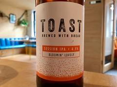 Drinking toast.