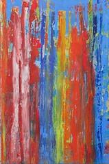 Seltsame Besucher bestaunen den Strand von Guardamar. Strange visitors admire the Beach of Guardamar (Peter Wachtmeister) Tags: artinformel modernart artbrut acrylicpaint abstract abstrakt popart surrealismus surrealism illustrationen phantastic hanspeterwachtmeister
