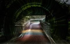 Zeit-Tunnel (gabrieleskwar) Tags: outdoor oberhausen zoom zoomburst brücke weg bunt farbe