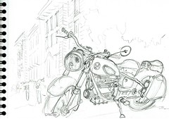Tour Poitou-Charentes - Motos anciennes 2017 (Croctoo) Tags: croctoo croctoofr croquis crayon poitoucharentes motoancienne mécanique cellessurbelle