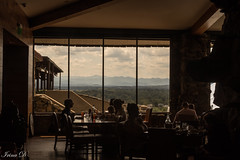 Dining with a view  HWW (Irina1010) Tags: restaurant view mountains silhouettes people dining windows canon sunsetterrace asheville grovepark outstandingromanianphotographers