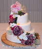 Crystals, Flowers & Seashells Wedding Cake