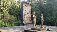 Denkmal 1981 zu Ehren der Arbeiter für die Rettung des Waldes nach Windbruch und Borgenkäfer 1946-1948