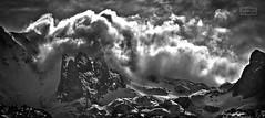Entre nubes/ In clouds (Jose Antonio. 62) Tags: spain españa asturias picosdeeuropa mountains montañas clouds nubes snow nieve nature naturaleza bw blancoynegro blackandwhite