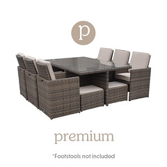 Barcelona 7 Piece Cube Set in Truffle and Champagne (rattandirect) Tags: rattan rattandirect rattanfurniture gardenfurniture barcelonarange cubeset rattanweave products furniture