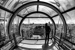 Beaubourg ! (poupette1957) Tags: art atmosphère architecture black canon city curious deco french fishey grandangle humanisme imagesingulières sky life landscape monument monochrome man noiretblanc noir photographie people parisblackandwhite paris rue street town travel urban ville voyage view