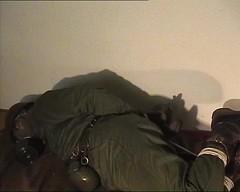 Soldierhogtied (vagabund51) Tags: bondage hogtied uniform soldier bund tiedup bdsm uniformbondage