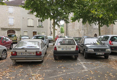 Everyday French Line-up (Spottedlaurel) Tags: citroen ax bx peugeot 205