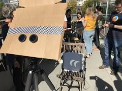 capturing the eclipse! (roland) Tags: eclipse mozilla mozillavancouver mozillayvr vancouver gastown partialeclipse solareclipse
