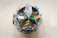 Skella Beta Kusudama (30 units, icosahedron) (Brian Ritchie) Tags: kusudama mariasinayskaya skellabeta modular origami