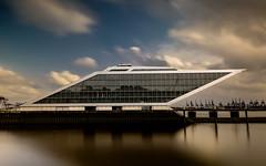 Dockland No. IV. (Explored 25.08.2017) (fotoerdmann) Tags: outdoor cloud 2017 waters elbe hamburg dockland germany architektur longexposuretime langzeitbelichtung fotoerdmann