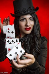 Deal Me In... (Ring of Fire Hot Sauce 1) Tags: cosplay zatanna scarlettsparrow sandiegocomiccon cards portrait sdcc