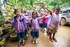 Kids in the Rain 6232 (Ursula in Aus) Tags: banhuaymaegok banhuaymaegokschool hilltribeeducationprojects maehongson maesariang thep thailand