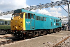 31438 Old Oak Common 2nd September 2017  E1880 (focus- transport) Tags: trains old oak common open day classes 31 47 50 57 180 800 d british railways br oliver cromwell tornado colas gbfr gbrf gwr hst rail operations group railcar diesel steam great western railway high speed train gb freight