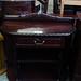 Rossmore  half moon mahogany console table E70