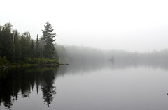 Layers of lands, in the mist (Captions by Nica... (Fieger Photography)) Tags: forest landscape lake water reflections reflection trees tree nature outdoor quebec canada fog foggy mist misty weather rain parc mauricie
